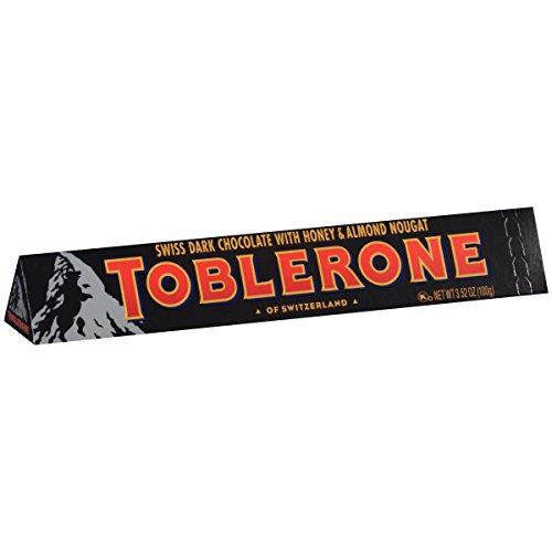 Toblerone Dark Chocolate Bar, 3.52 Ounce (Pack of 12) (Chocolate Toblerone)