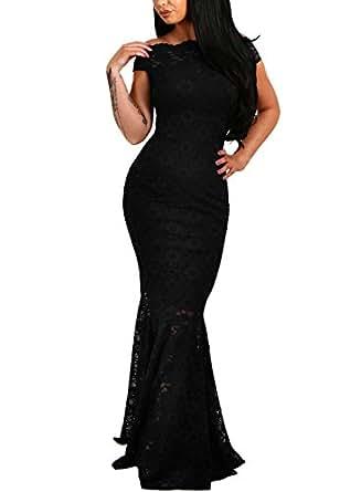 Amazon.com: Elapsy Womens Sexy Off Shoulder Bardot Lace