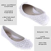 e5667a1ff35 Gold Toe Lauren Womens Lace Comfort Ballet Flat,Dressy Formal Bridal ...