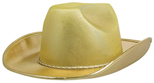 Amscan Velour Cowboy Hat, Party Accessory, Gold
