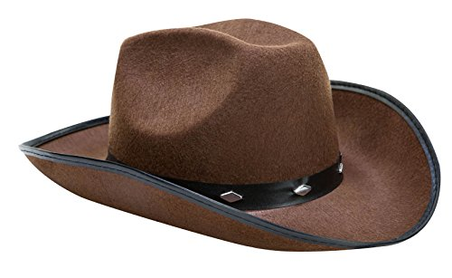 Kangaroo Brown Studded Cowboy Hat (Country And Western Costumes)