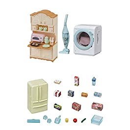 3 Sets – Microwave Cabinet, Kitchen Appliances and Washing Machine (Japan Import)