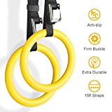 YISSVIC Professional Gymnastic Rings Premium and Professional Gymnastics Fitness Exercise Rings Yellow 2