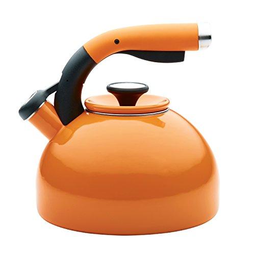 2-qt. Morning Bird Tea Kettle - Color: Mandarin Orange