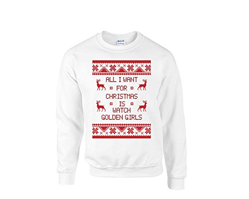 all i want for christmas is watch golden girls sweater golden girls xmas party ugly