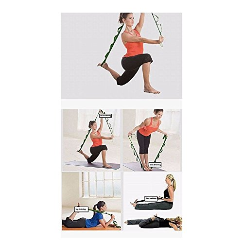 Yoga Strap for Stretching ✮ 12 Loops ✮ Made of Nylon ✮ Smooth on Skin ✮ Yoga ✮ Pilates ✮ Flexibility Training ✮ Physical Therapy ✮ Athletic Teams ✮ CrossFit ✮ Hamstring Stretcher