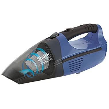 Shark Pet-Perfect Cordless Bagless Portable Hand Vacuum for Carpet and Hard Floor with Rechargeable 12V Battery (SV75Z), Gray