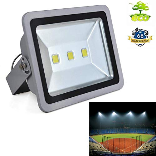LED Flood Light Fixture-150W Super Bright Outside Security Lamp, Daylight White, Waterproof Exterior Lighting for Basketball, Garden, Backyard, Garage, Warehouse, Commercial, Camping, Daylight