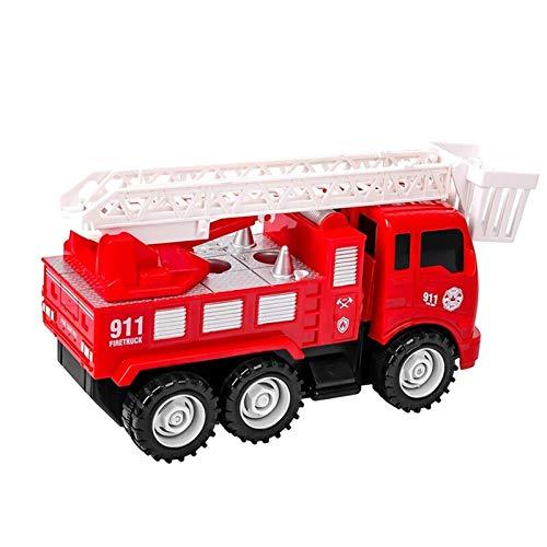 [해외]Diy 관성 해체 소방차 미니 사다리 소방차 장난감 아이 시뮬레이션 소방차 아이 들을 위한 / Diy Inertia Dismantling Fire Truck Mini Ladder Fire Truck Toy Kids Simulation Fire Truck For Kids