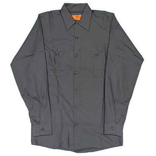 同行する権威覆すRED KAP(レッドキャップ)/LONG SLEEVE SOLID WORK SHIRTS(長袖ソリッドワークシャツ) XL CH:チャコール(Charcoal)