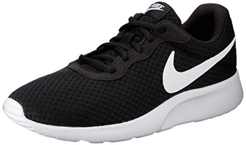 (Nike Men's Tanjun Running Sneaker Black/White 8.5 )