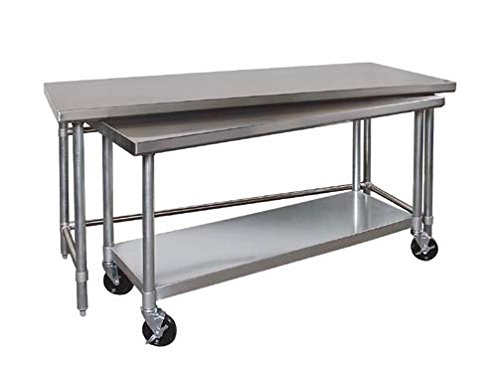Tarrison NT3048-36 Heavy Duty Stainless Steel Top Nested Work Table, 48'' Length x 35'' Height x 30'' Depth by Tarrison Products