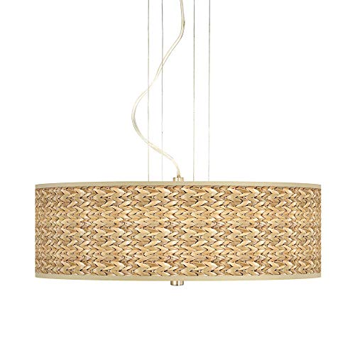 Pendant Lighting With Seagrass Shades in US - 3
