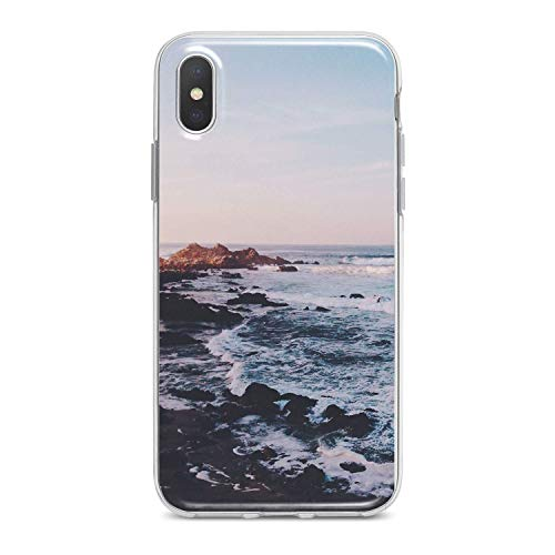 Lex Altern TPU Case for iPhone Apple Xs Max Xr 10 X 8+ 7 6s 6 SE 5s 5 Man Dark Ocean Phone Soft Slim fit Waves Clear Lightweight Cover - Cell Models Storm Phone