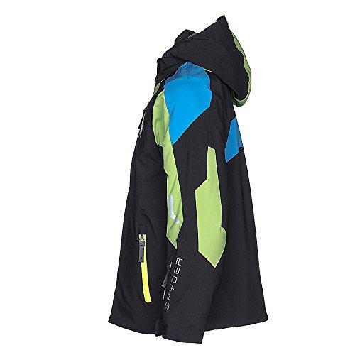 Spyder Kids Boy's Avenger Jacket (Big Kids) Black/Fresh/Fresh Blue 14 by Spyder (Image #6)
