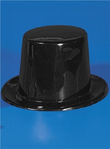 Fun Express Black Plastic Top Hats Party Favors - 12 -