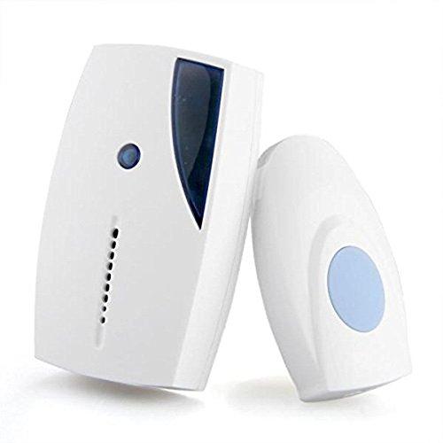 Yeefant Wireless Door Bell, 1 Wireless doorbell button,1 Receiver,36 Melodies to Choose,12V Battery Operated Home Cordless Portable 100M Range Digital Doorbell Decor Doorbell