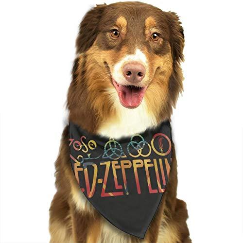Jesiceeal Cute Pet Scarf Led Zeppelin Dog Bandana Collars Triangle Neckerchief Puppy Cat Bibs Scarfs