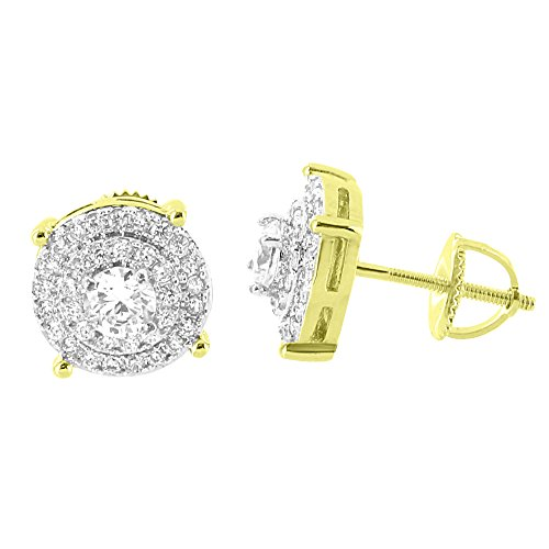 Solitaire Earrings Cluster Diamonds Yellow product image