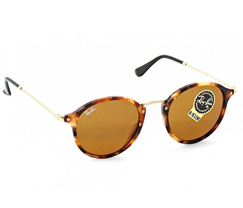 Ray-Ban Round RB 2447 1160 49mm Spotted Brown Havana Frame / Brown - Sunglasses Ban Ray Reflective Round