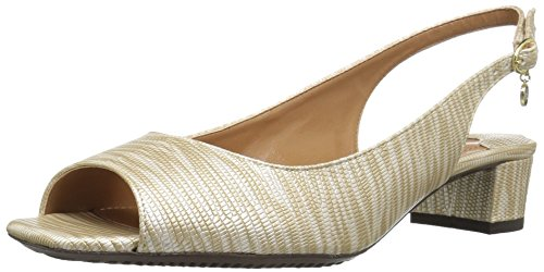 J.renee Dames Karwin Pump Beige / Metallic