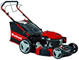 Einhell GC-PM 56 S HW High Wheeled Self Propelled Petrol Lawnmower with 56 cm Cutting Width - Red