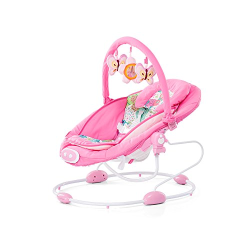 Chipolino Electric Paradise Baby Swing y Bouncer (Rosa)