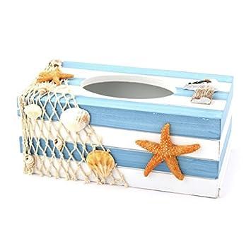 Amazon.com: eDealMax de Madera del dormitorio del hogar del ornamento Estrellas de mar Shell Tejido cuadro Titular Organizador Tricolor: Home & Kitchen