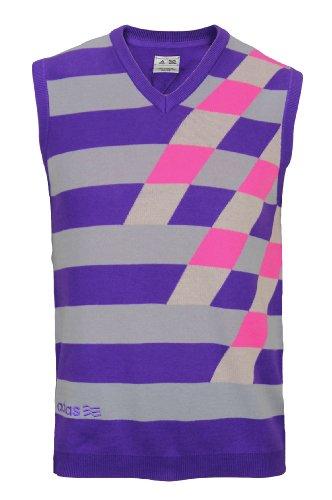 V-neck Sweater Vest Performance (Adidas 2012/13 Men's Fashion Performance Graphic Sweater Vest (Purple/Zone/Bright Pink - L))