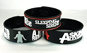 A Day To Remember And Asking Alexandria And Sleeping With Sirens Ada2Sw New 3Pcs(3X) Bracelet Wristband