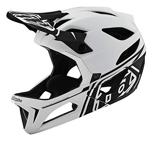 Troy Lee Designs Adult Downhill Enduro Mountain Bike Full face Stage MIPS Stealth Helmet (X-Small/Small, White) ()