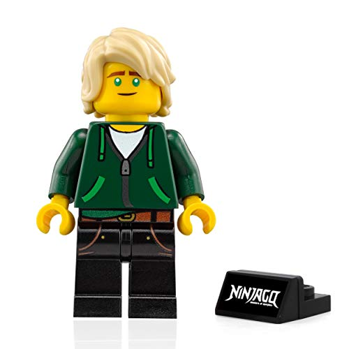The LEGO Ninjago Movie Minifigure - Lloyd Garmadon (High School Outfit with stand) -