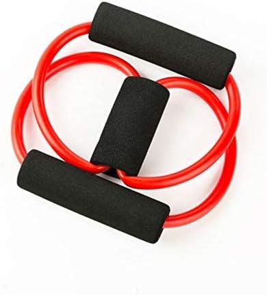 Soft TPE tragbare Größe Geräte Widerstandsbänder Expander Pilates Kraft Widerstand Fitnessgeräte (rot) -BCVBFGCXVB