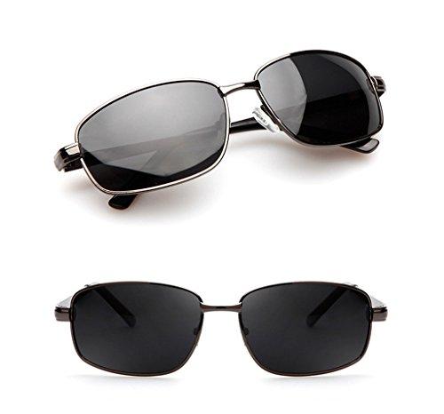 polarizadas B de Gafas hombre cuadradas sol sol QQB de contra para sol los gafas Color rayos de A UV para Gafas Gafas hombre Gafas PaP6yqgwv