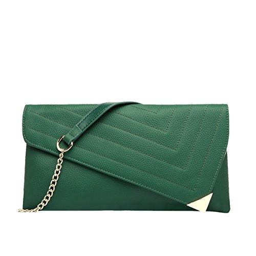 Clutch Women Green Purse Soft Bags Handbag Party Leather Qqb127 Dissa 1Xwxq67Zy