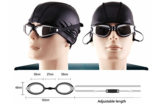 MISOL Swim Goggles,Swimming Goggles Professional Anti Fog No Leaking UV Protection Wide View Swim Goggles For Women Men Adult Youth Kids