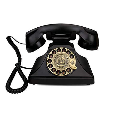 Qivor Retro Telephone Landline Rotary Dial/Mechanical Ringtones/European Antique Vintage Telephones (Color : Red)