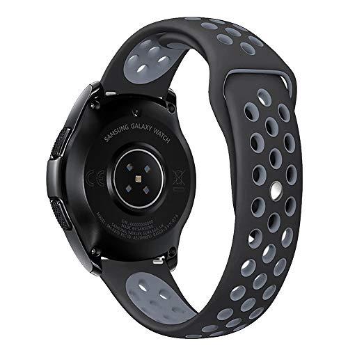 Leafboat Compatible con Correa Samsung Galaxy Watch 46mm, Correa de Silicona con Correa de Repuesto con pasadores de liberación rápida Mira Pulsera ...