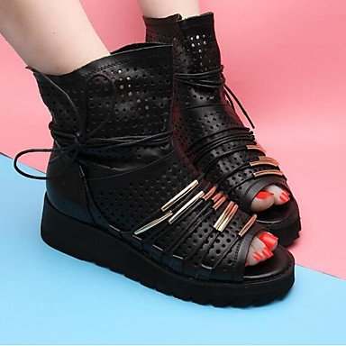 casual bottes nbsp; cuir femme Almond confortable 5 DESY noir tissu Printemps pour rouge été Aw4qBESn