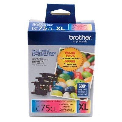 3pk Magenta Inkjet Cartridge (Brother LC75 Ink Cartridge ( Cyan,Magenta,Yellow , 3-Pack)