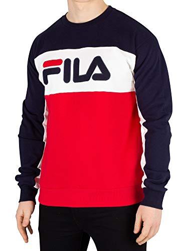 Fila Mens Spring - Fila Men's Brock Cut & Sew Sweatshirt, Blue, S