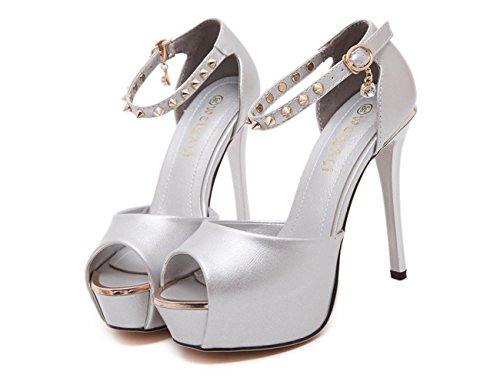 Peep Toe High Heels 12CM Sandalen 9FRwdPF