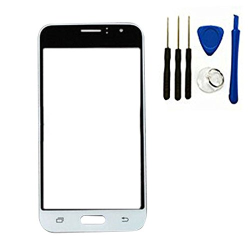 Front Screen Outer Glass top Panel Lens cover For Galaxy J1 (2016) J120 SM-J120 replacement (white)
