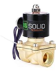 """U.S. Solid 3/4"""" G 12 V DC Messing Magnetventil Direktgesteuert für Wasser Luft Gas Öl NC Brass Solenoid Valve"""