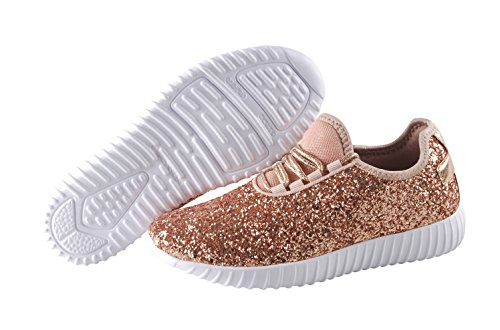 Fashion Glitter Women Walking Gold ROXY ROSE Sneaker for Sparkly Stylish Shoes Women's Shoes Shoes Rose EgqqTwB