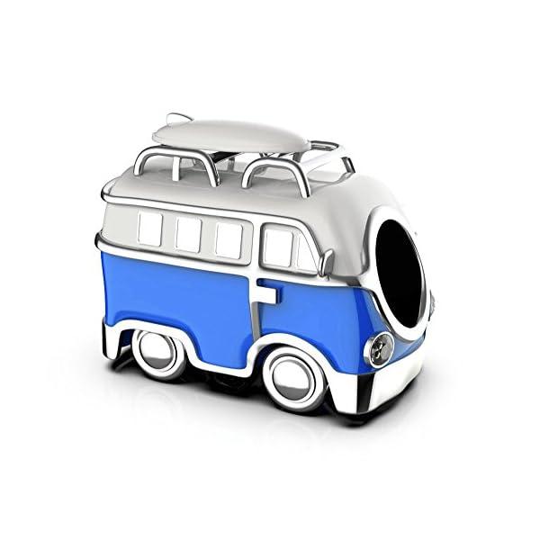 41Xstwgk9mL Campervan Charm - S925 Sterling Silber in einer Geschenkbox