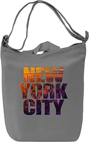 NYC Borsa Giornaliera Canvas Canvas Day Bag| 100% Premium Cotton Canvas| DTG Printing|