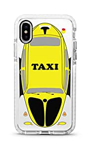 Stylizedd Apple iPhone XS Max Cover Impact Pro White Military Grade Dual Layer Case - Yellow Taxi