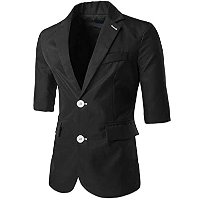 Discount Porlox Men's Casual Peaked Lapel Two Buttons Suit Blazer