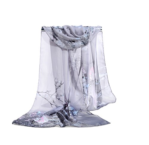 Herebuy Scarves Chiffon Flowers Printed product image